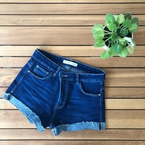 Zara TRF Dark Blue Denim shorts!